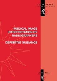 Medical Image Interpretation by Radiographers: Definitive Guidance