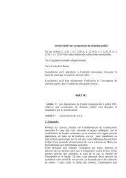 Arrêté relatif aux occupations du domaine public - Ville de Pontarlier