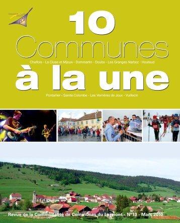 10 communes a? la une n° 13 mars 2010_Mise ... - Ville de Pontarlier