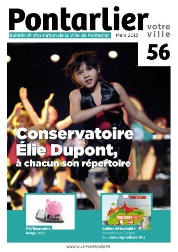 Conservatoire Élie Dupont, - Ville de Pontarlier