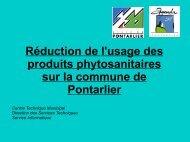 produits phytosanitaires - Ville de Pontarlier