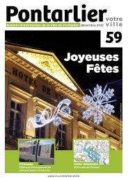Joyeuses Fêtes - Ville de Pontarlier