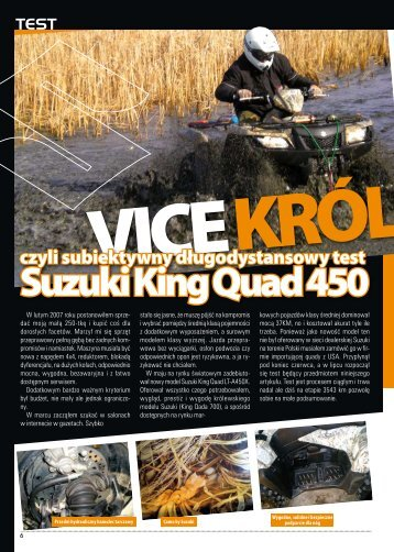 SUZUKI KING QUAD 450 4x4 - ATV Sport