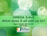 OMEGA 3•6•9 What does it all add up to? - Medical Wellness Center