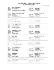 liste des locaux centres de vacances en loire-atlantique