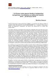 La France entre guerre froide et intégration européenne - Histoire ...