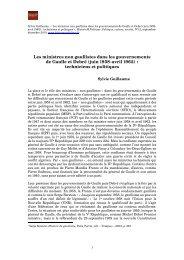 Les ministres non gaullistes dans les gouvernements de Gaulle et ...