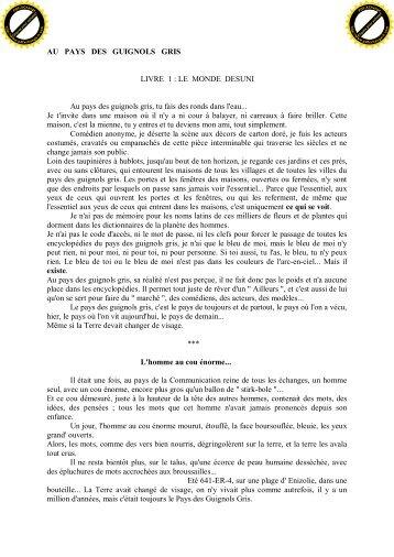 AU PAYS DES GUIGNOLS GRIS LIVRE 1 : LE MONDE DESUNI Au ...