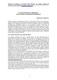 Guillaume Le Quintrec - Histoire@Politique