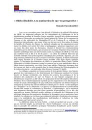 « Obéir/désobéir - Histoire@Politique