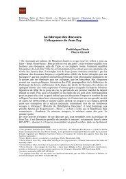 LA FABRIQUE DES DISCOURS - Histoire@Politique
