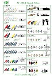 Marushin electric mfg. co., ltd. RCA PHONO PLUGS ... - au one NET