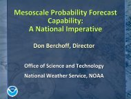 National Weather Service goals and requirements. The 4-D Data ...