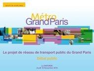 La présentation du projet du Grand Paris - Arc Express