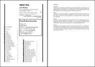 HIGH TEA - Tierolff Muziekcentrale
