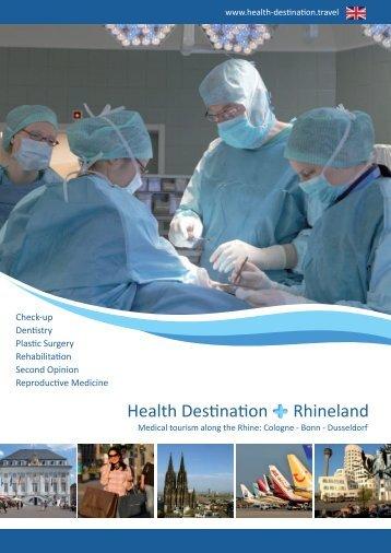 Health Destination Rhineland Broschüre Nr. 1 ENG