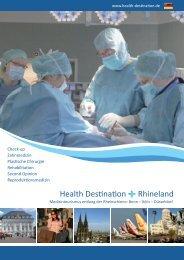 Health Destination Rhineland Broschüre Nr. 1 GER