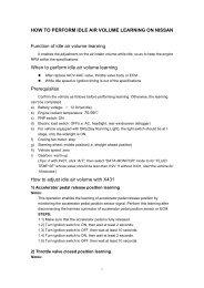 QR25DE Engine Idle Re-Learn Procedure - Australian Nissan X