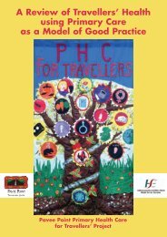 A Review of Travellers' Health using Primary Care as ... - Pavee Point