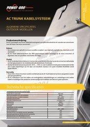 Technische specificaties AC trunk Kabelsysteem - Power-One