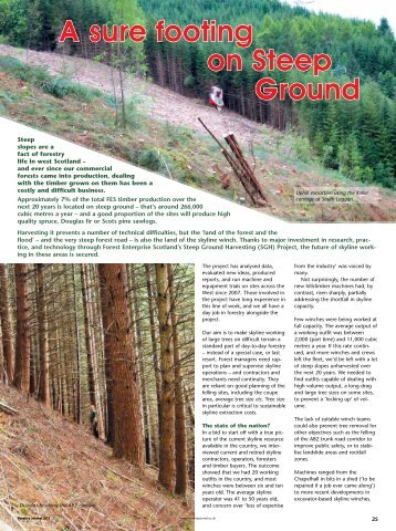 Steep ground harvesting - Forestry Journal