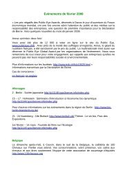 Evènements de février 2008 - Organic-E-Publishing-International
