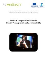 Media Managers' Guidelines to Quality Management ... - MediaAcT