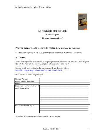 Le Fantôme du peuplier - Les Éditions Hurtubise