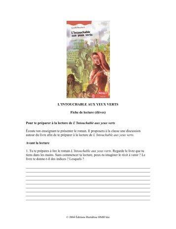 L'Intouchable aux yeux verts (élève) - Les Éditions Hurtubise