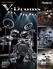 Roland V-Drums Catalog 2011 Vol.1 - Owner's Manual - Roland