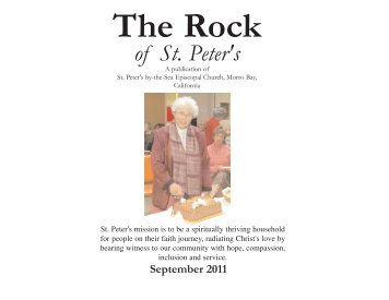 September 2011 - St. Peter's by-the-Sea Episcopal Church