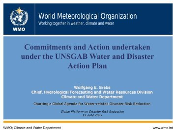 WMO_Commitments and Action undertaken under ... - PreventionWeb