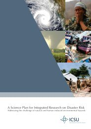 A Science Plan for Integrated Research on Disaster Risk - IRDR
