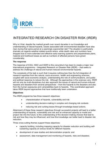 Assessment and Interpretation of Risk (AIR) - (IFI)-Home Page