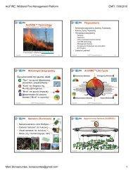 ArcFIRE: Wildland Fire Management Platform ΕΜΠ: 15/6/2010 Marc ...