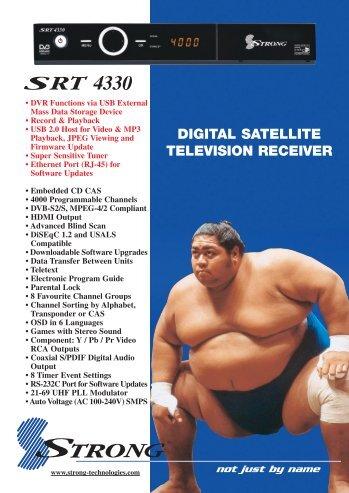 DIGITAL SATELLITE TELEVISION RECEIVER