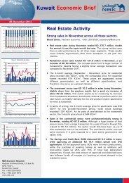 Kuwait Economic Brief Real Estate Activity - National Bank of Kuwait