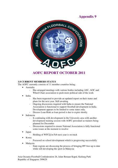 Appendix 9 AOFC REPORT OCTOBER 2011 - IFF