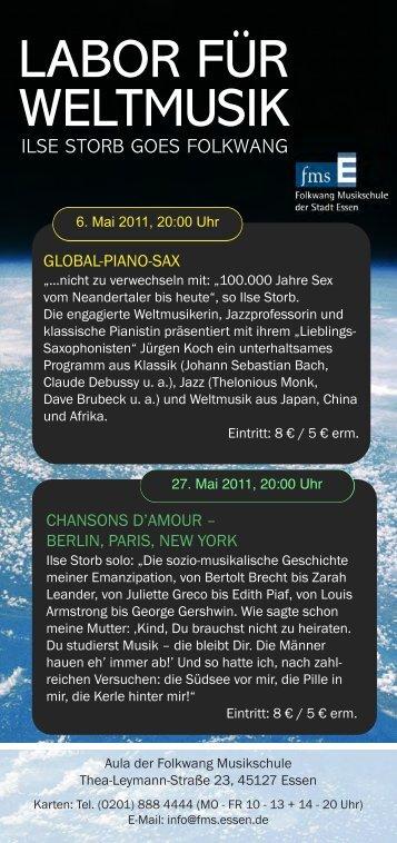 Flyer zum Download - Folkwang Musikschule - Essen