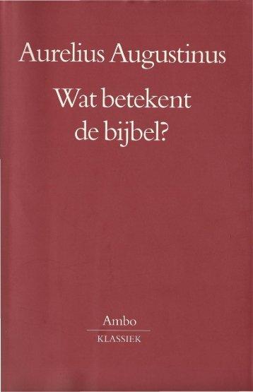 Augustinus_WatbetekentdeBijbel