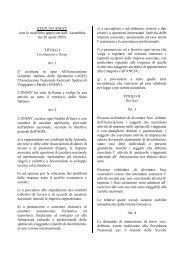 STATUTO ANESV (con le modifiche approvate dall' Assemblea del ...