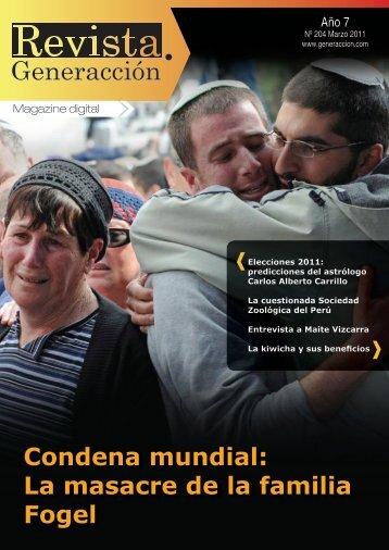 Condena mundial: La masacre de la familia Fogel - Generaccion.com
