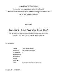 Deutschland Global Player ohne Global Cities?