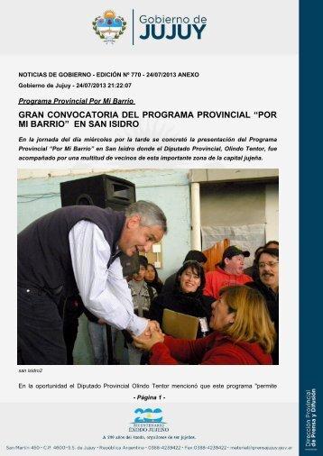 """gran convocatoria del programa provincial """"por mi barrio"""" en san isidro"""
