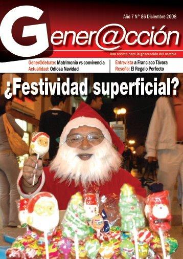 Año 7 N° 86 Diciembre 2008 Gener@debate ... - Generaccion.com
