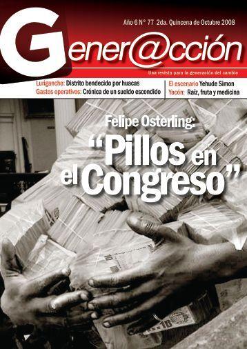 Año 6 N° 77 2da. Quincena de Octubre 2008 ... - Generaccion.com