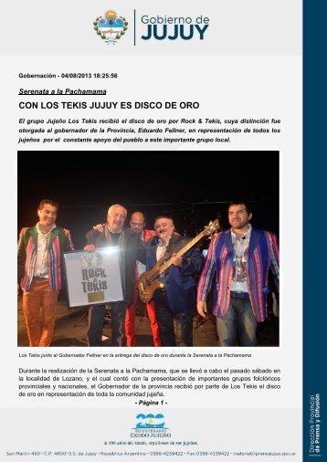 CON LOS TEKIS JUJUY ES DISCO DE ORO