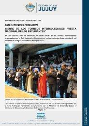 cierre de los torneos intercolegiales - Gobierno de la Provincia de ...