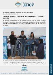 """""""por mi barrio"""" continua recorriendo la capital jujeña - Dirección de ..."""