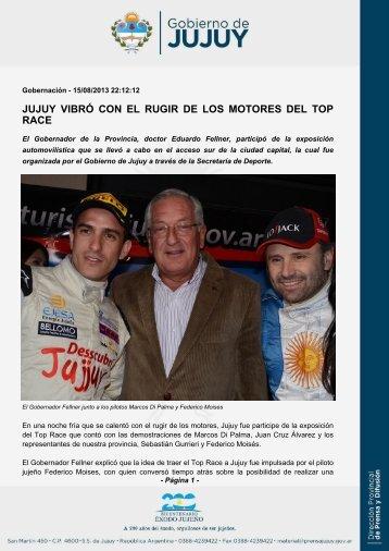 JUJUY VIBRÓ CON EL RUGIR DE LOS MOTORES DEL TOP RACE